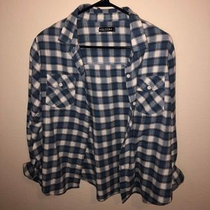Volcom Blue Flannel